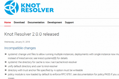 Screenshot-2018-2-3 Knot Resolver 2 0 0 released – Knot Resolver