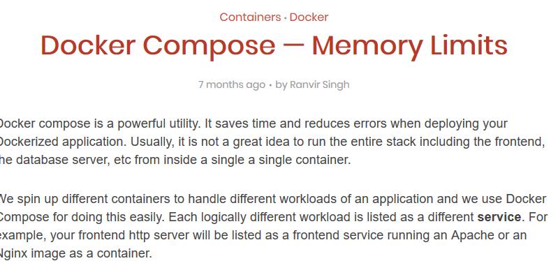Screenshot_2019-04-19 Docker Compose — Memory Limits – Linux Hint