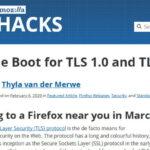 [自分用メモ] [ブラウザ][セキュリティ]Webサイトの対応しているTLSバージョンの確認方法